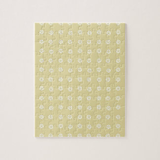 Lemon Flower Pattern Jigsaw Puzzle