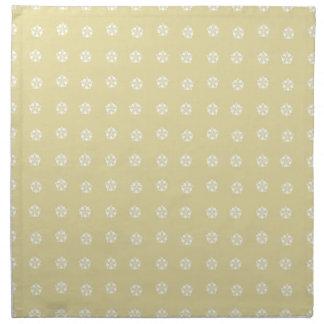 Lemon Flower Pattern Napkin