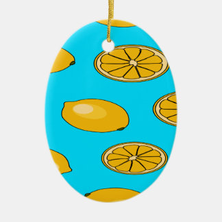 Lemon fruit pattern ceramic ornament