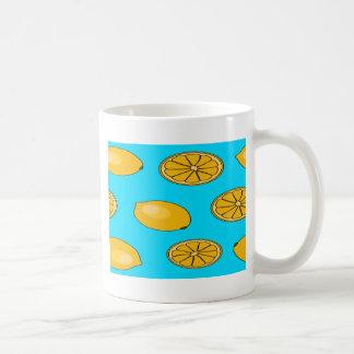 Lemon fruit pattern coffee mug