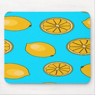 Lemon fruit pattern mouse pad
