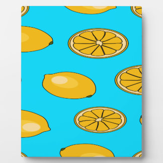 Lemon fruit pattern plaque