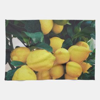 Lemon fruit tree kitchen towel