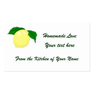 Lemon Gift Tag 2 Business Card