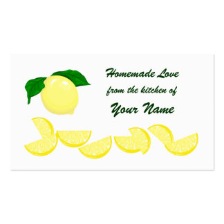 Lemon Gift Tag Business Card Template