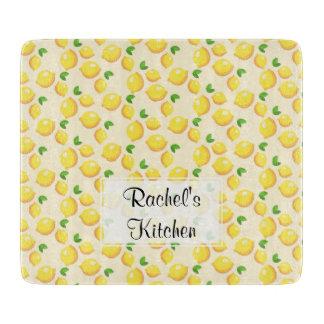 Lemon Glass Cutting Board - Customizable
