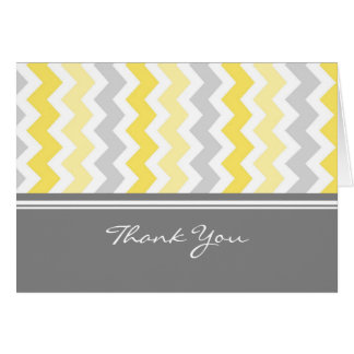 Lemon Gray Baby Shower Hostess Thank You Card