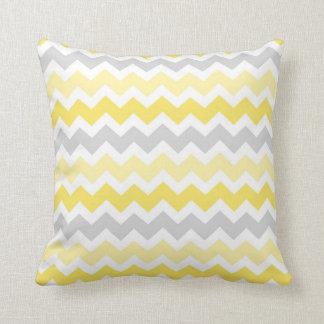 Lemon Gray Chevron Decorative Pillow