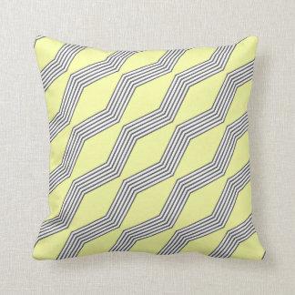 Lemon & Grey Chevron Throw Cushion