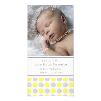 Lemon Grey Template New Baby Birth Announcement