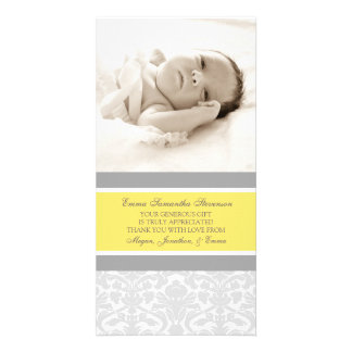 Lemon Grey Thank You Baby Shower Photo Cards