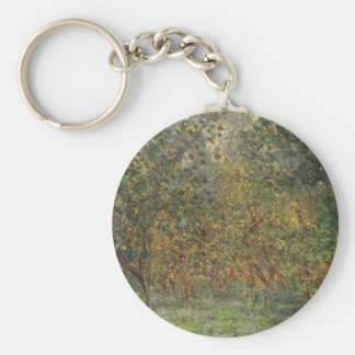 Lemon Grove in Bordighera by Claude Monet Basic Round Button Keychain