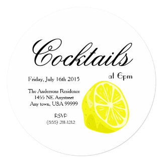 Lemon Half Circle Invitation