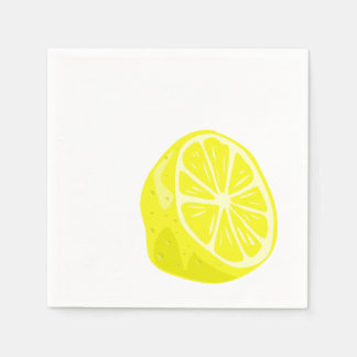 Lemon Half Cocktail Napkins Disposable Napkin
