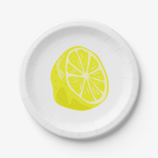 Lemon Half Paper Plate 7 Inch Paper Plate
