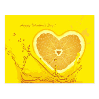 Lemon Heart Velentine's Day Postcard