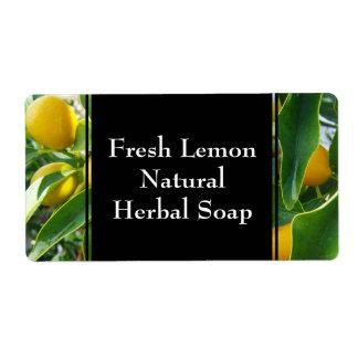 Lemon Herbal Garden Herb Custom Label Shipping Label