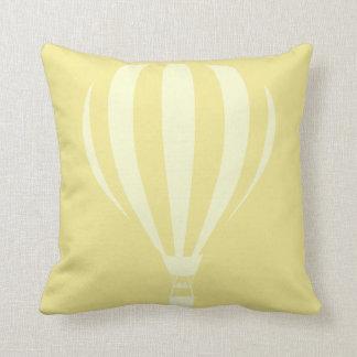 Lemon Hot Air Balloon Throw Cushion