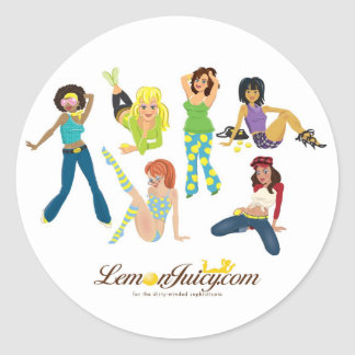 Lemon Juicy Gals Classic Round Sticker