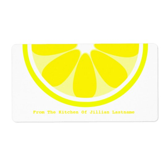 Lemon Kitchen Label From The Kitchen Of