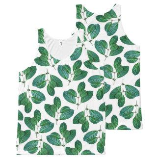Lemon Leaf All-Over-Print Tank Top