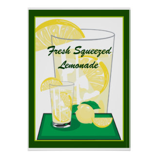 Lemon Lemons Lemonade Fresh Squeezed 20x18 Poster