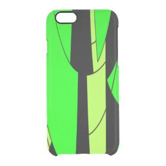 Lemon Lime Abstract Art Clear iPhone 6/6S Case