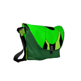 Lemon Lime Abstract Art Courier Bag