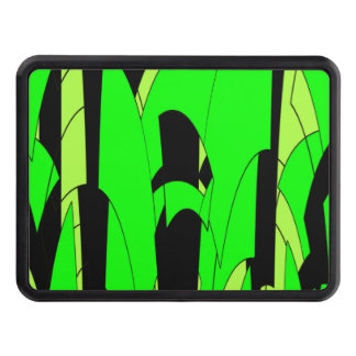 Lemon Lime Abstract Art Trailer Hitch Cover