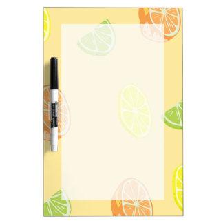 Lemon Lime and Orange Citrus Kitchen Dry Erase Board
