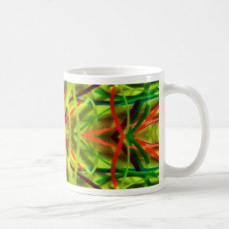 Lemon Lime Bending Lines By BethofArt Coffee Mug