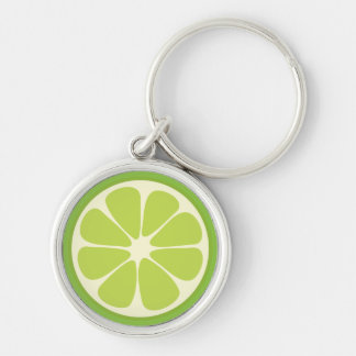 Lemon Lime Green Juicy Summer Citrus Fruit Slice Keychain