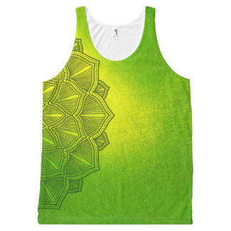 Lemon Lime Lotus Tank Top