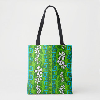 Lemon lime luau revisited tote bag