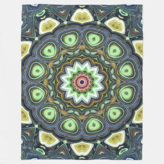 Lemon Lime Mandala Fleece Blanket