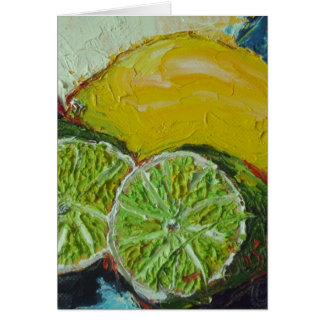 Lemon Lime Note Card