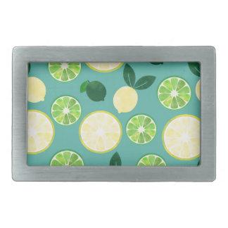Lemon Lime Pattern Belt Buckle