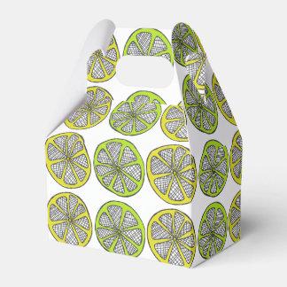 Lemon Lime Pattern Favor Box