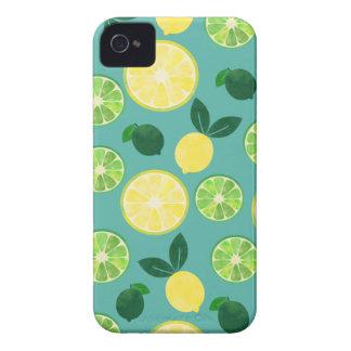 Lemon Lime Pattern iPhone 4 Case-Mate Case