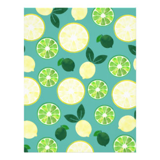 Lemon Lime Pattern Letterhead