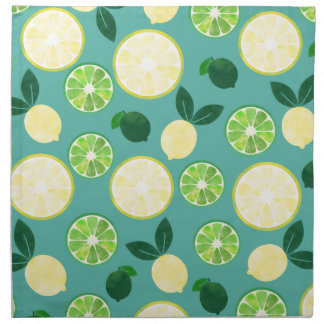 Lemon Lime Pattern Napkin