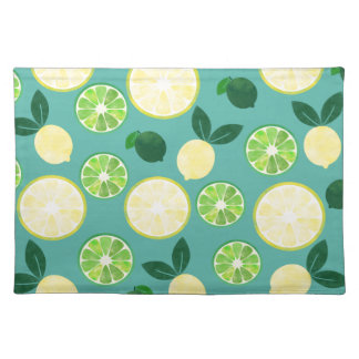 Lemon Lime Pattern Placemat