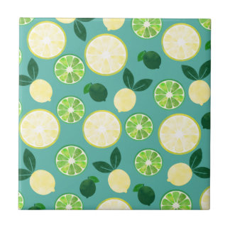 Lemon Lime Pattern Tile
