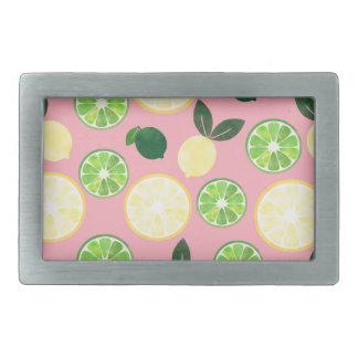 Lemon Lime Pink Belt Buckle