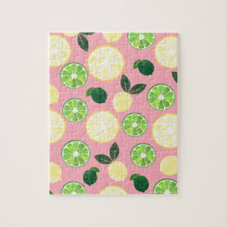 Lemon Lime Pink Jigsaw Puzzle