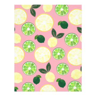 Lemon Lime Pink Letterhead
