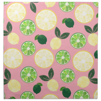 Lemon Lime Pink Napkin