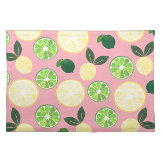 Lemon Lime Pink Placemat