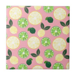 Lemon Lime Pink Tile