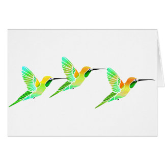 Lemon Lime Sorbet Hummingbirds Card